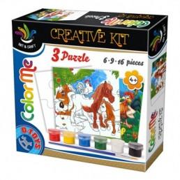 3 puzzle color me