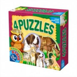 4 puzzle animale domestice