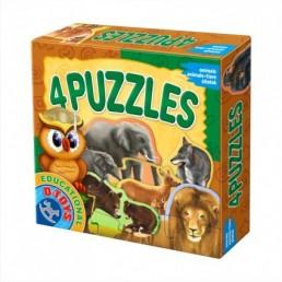 4 puzzle animale salbatice