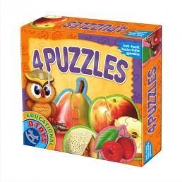 4 puzzle fructe