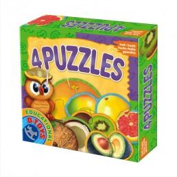 4 puzzle fructe exotice