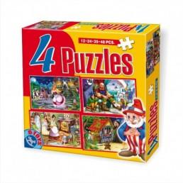 4 puzzle maxi cu basme
