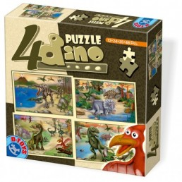 4 puzzle maxi cu dinozauri