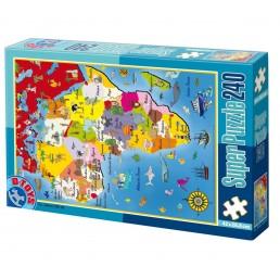Super puzzle 240 piese harti