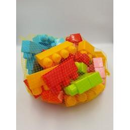 Joc de construit din plastic la sac