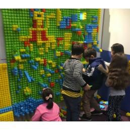 Panou pentru jocurile de construit - 9 placi 31x31 cm