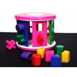 Roata din plastic cu forme geometrice