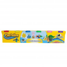 Plastelino - Multipack 6 culori de Plastilina