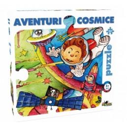Mega puzzle 54 piese - Aventuri cosmice