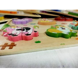 Puzzle lemn in relief - format 30*22