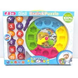 """Joc educativ """"sa invatam formele, ceasul si culorile"""""""