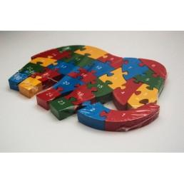 Puzzle din lemn - diferite forme